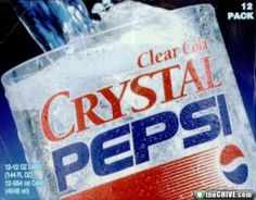 I totally remember crystal pepsi!