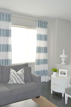 Use grommet tape to hang curtains so easily -- no fancy tools needed!