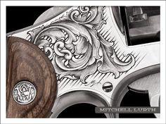 Fine hand engraving by Mitchell Lurth.