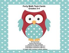 This collection of printable task cards is just what you need to build fluency in the skills included in CCSS.MATH.CONTENT.3.NBT.A.2. and CCSS.MATH.CONTENT.4.NBT.B.4. The student worksheets and answer keys are included in the 40 card set of math practice.
