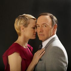 """Robin Wright and Kevin Spacey ( Kirk McKoy/Los Angeles Times / May 2013 ) Robin Wright and Kevin Spacey star in """"House of Cards,"""" Netflix's tense tale of a rigged political game. Claire Underwood Style, Frank Underwood, Kevin Spacey, Celebrity Portraits, Celebrity Pictures, House Of Cards Netflix, Robin Wright Hair, Shows, Hollywood Stars"""