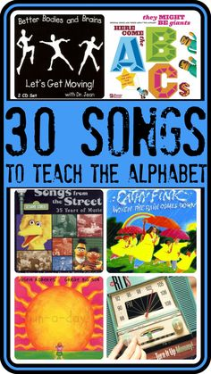 Singing is one of the five practices we can do everyday with our children to enforce early literacy skills. What better way to learn the ABC's than with a variety of alphabet songs. Check out Fun-a-Days 30 fun alphabet song suggestions. Preschool Music, Preschool Letters, Kindergarten Literacy, Early Literacy, Preschool Ideas, Teaching Ideas, Teaching The Alphabet, Learning Letters, Kids Learning