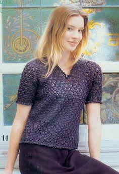 Crochetpedia: ganchillo camiseta Blusa