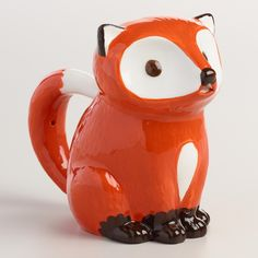Shaped and painted like a red woodland critter, our exclusive ceramic creamer is a charming addition to your beverage service with a clever spout that doubles as the fox's mouth. >> #WorldMarket Kitchen