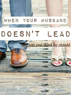 """It's okay to have biblical expectations of our husband. God put those in place. But we also need to realize our husband needs to nourish a relationship with God first, so he can lead through the way the Spirit leads them. Let's not get in the way of that.  Extending grace, lifting him in prayer regarding the area of his spiritual leadership, and asking God to minister to his heart, has proven greater results than when I've tried to guilt or pressure him into leading in ways I think he…"