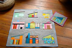 berlinquilter: A Mid Mod Houses Baby Quilt