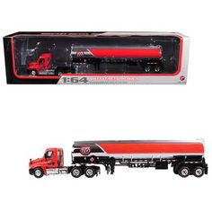 Brand new scale diecast model of Freightliner Cascadia with 76 Fuel Tanker die cast model by First Gear. Hummer Truck, Hummer H2, Kids Power Wheels, Ford Police, Oil Service, Custom Hot Wheels, Nascar Diecast, Rubber Tires, Toy Trucks