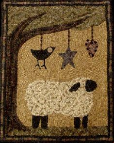 sheep,crow,star,heart by the redsaltbox