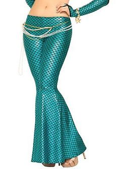 8492d06d50ab2 Leggings and Tights 152364: Womens Blue Mermaid Leggings -> BUY IT NOW ONLY: