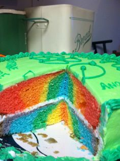 Inside BBQ cake