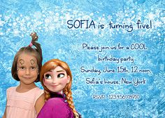 Disney's Frozen Frozen Elsa Frozen Birthday by AnastasiaArtDesigns, $12.00 Frozen Frozen, Frozen Party, Disney Frozen, Frozen Birthday Invitations, Invites, First Birthdays, Elsa, One Year Birthday, First Anniversary