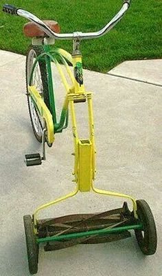 Lawn Mowing Bike? http://egardeningtools.com/product-category/gardening-tools/manual-weeders/