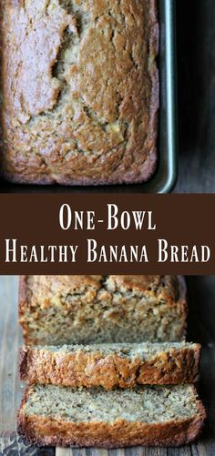 One-bowl Healthy Banana Bread Recipe. This delicious banana bread recipe can be .,Healthy, Many of these healthy H E A L T H Y . One-bowl Healthy Banana Bread Recipe. This delicious banana bread recipe can be made-ahead of time on meal prep . Healthy Sweets, Healthy Breakfast Recipes, Healthy Baking, Healthy Drinks, Healthy Bread Recipes, Healthy Recipes For One, Meal Prep Breakfast, Healthy Breakfasts, Healthy Tips