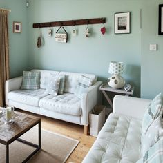 Tranquil nautical-style living room | Living room decorating ideas | LIving room | Style At Home | IMAGE | Housetohome.co.uk