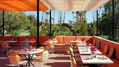 The Parker Palm Springs: Normas is a fantastic al fresco brunch spot, with a bright style and sunny views.