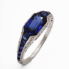 1920s Tiffany Sapphire and Diamond Ring