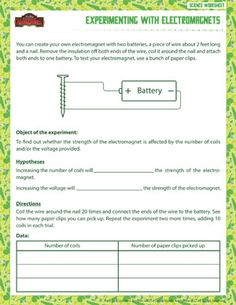 Printables 6th Grade Worksheets Printable 4th grade science worksheets and on pinterest experimenting with electromagnets printable 6th worksheet