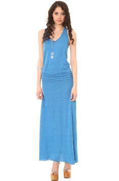 Alternative Women's Go Fish Drop Waist Maxi Dress, Eco Skydiver Blue, Medium