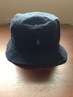 1a55ff238fd Polo Ralph Lauren Mens Beach Bucket Hat Navy S M NWT MSRP  49 Beach Bucket