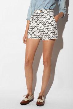 dusen dusen high waist shorts at urban outfitters