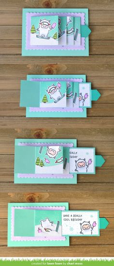 Lawn Fawn Intro: Flippin' Awesome, Flippin' Awesome Add-On & Diagonal Gift Card Pocket - Lawn Fawn Fun Fold Cards, Pop Up Cards, Cool Cards, Folded Cards, Flip Cards, Holiday Cards, Christmas Cards, Christmas Punch, Cumpleaños Diy