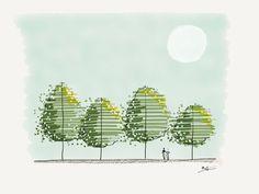 Dibujos Draws Sketch, Hand Arq, Proyecto Ciudad, Vegetacion, Dibujo Pintura, Urbanismo, Bocetos, Renders, Planos