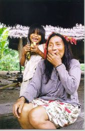 ZaparaElder- This woman is one of five adults left that speak the language of this rain forest tribe- Not only are the forests and creatures heading for extinction- So are the languages and people of the rain forest!