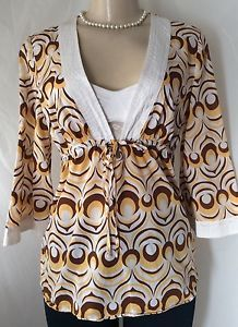 Inc International Concepts Boho Tunic Top Kimono Sleeve Multi Color Yellow GUC | eBay