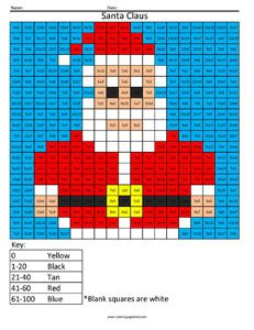 Holiday Multiplication and Division Santa Claus
