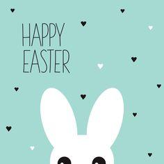 Grappig konijn happy easter , verkrijgbaar bij #kaartje2go voor €1,99