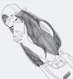 Image uploaded by camila. Find, share, and collect images about outline, drawing and girl on We Heart It – the app to get lost in what you love. Tumblr Girl Drawing, Tumblr Sketches, Tumblr Drawings, Girly Drawings, Tumblr Art, Outline Drawings, Tumblr Girls, Drawing Sketches, Drawing Art