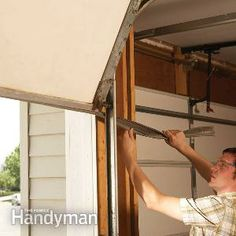 Fixing Garage Doors:  Repair  1: Weather seal your garage door Repair 2: Replace rotting trim Repair 3: Clean up a rusty door track