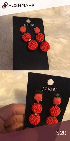 Red statement earrings Red statement earrings. J. Crew Jewelry Earrings