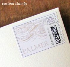 Lauren & Paschal | Custom stamp for a vintage, elegant wedding invitation I Custom by Nico and Lala