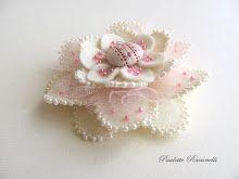 beaded flower pin