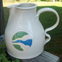 NC Pottery Hand Thrown Art Pitcher Signed by GrannysTreasures4u, $18.95