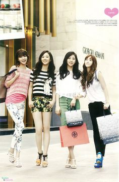 SNSD Sooyoung, Yuri, Seohyun and Jessica