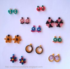12 Awesome Paper Quilling Jewelry Designs To Start Today – Quilling Techniques Quilling Studs, Paper Quilling Earrings, Paper Quilling Cards, Quilling Work, Paper Quilling Designs, Quilling Paper Craft, Quilling Patterns, Paper Crafts, Paper Jewelry