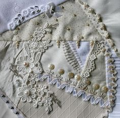I ❤ crazy quilting & embroidery . . . Kerry M. Australia, Dec.