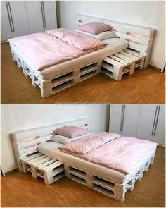 simple bed made with pallets