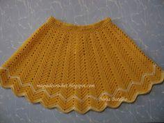 Magia do Crochet: Saia em crochet para menina