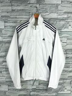 5987fe87bc4a ADIDAS Jacket Windbreaker Mens Medium Vintage 90 s Adidas Equipment Three  Stripes Track Top Sportswe