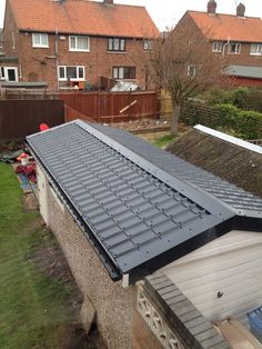 Tile effect roof sheets from rhino cladding