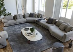 Sofa Design, Interior Design, Design Interiors, Modular Sofa, Corner Sofa, Living Room Sofa, Elle Decor, New Furniture, Home Decor Items