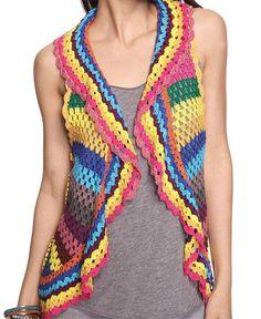 Delantero - Chaleco Crochet