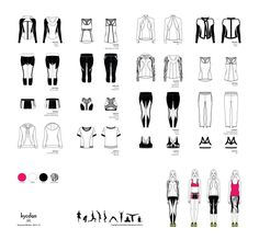 Fashion flats sportswear on behance fashion design drawings, fashion sketches, croquis, clothing sketches Flat Drawings, Flat Sketches, Technical Drawings, Clothing Sketches, Dress Sketches, Fashion Design Drawings, Fashion Sketches, Drawing Fashion, Fashion Portfolio