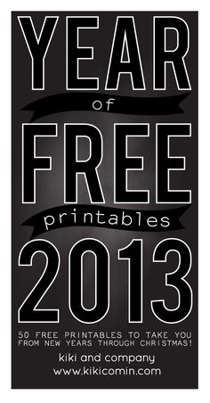 Year of Free Printables.......all holidays and special occasions.