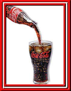 Coca Cola Gif | Gif animado Coca-Cola refrigerante caindo no copo com gelo