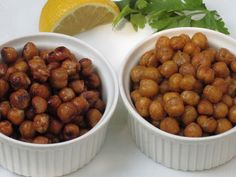 Roasted Chick Peas Two Ways. These could take the place of corn nuts.