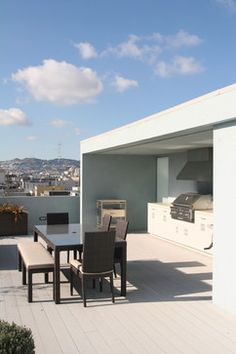 Beach Themed Outdoor Living Rooftop Kitchens And